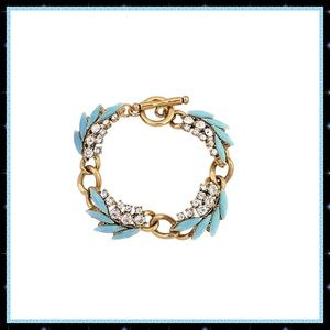 Goldtone and Rhinestone Tropic Bracelet